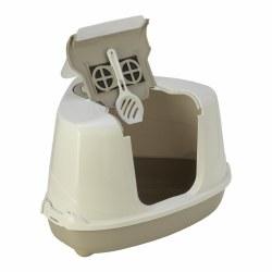 Moderna - Cat Litter Box - Corner Flip - Warm Gray