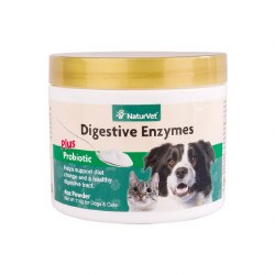NaturVet - Digestive Enzymes Plus Probiotics for Dogs & Cats - Powder - 4 oz