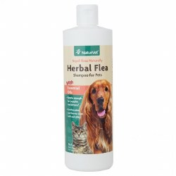 NaturVet Flea and Tick Shampoo - 16 oz