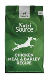 Nutrisource - Dry Dog Food - Choice Chicken Meal and Barley Recipe - 30 lbs