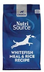 Nutrisource - Dry Dog Food - Choice Whitefish Meal and Rice Recipe - 30 lbs