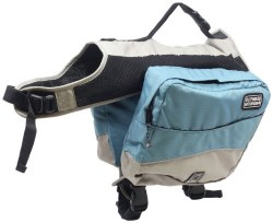 Outward Hound - Excursion Dog Backpack - Blue and Elephant - Extra Large