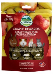 Oxbow Simple Rewards - Baked Treats with Apple and Banana - 2 oz