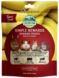 Oxbow Simple Rewards - Banana Treats - 1 oz