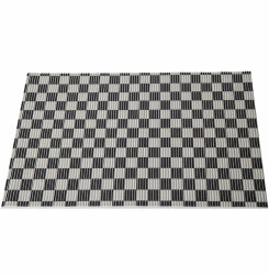 Cats Rule - Perfect Litter Mat - Black and White Check