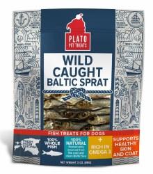 Plato - Wild Caught Baltic Sprat - Dog Treats - 3 oz
