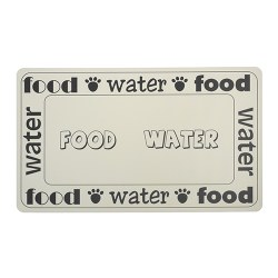 Petrageous - Plastic Food Mat - Food and Water