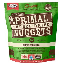 Primal - Duck Formula - Freeze Dried Cat Food - 14 oz