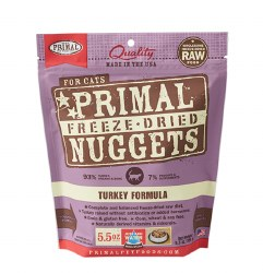 Primal - Turkey Formula - Freeze Dried Cat Food - 5.5 oz