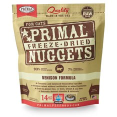 Primal - Venison Formula - Freeze Dried Cat Food - 14 oz
