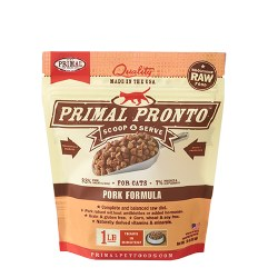 IN STORE PICK UP ONLY - Primal Pronto - Pork Formula - Raw Cat Food - 1 lbs