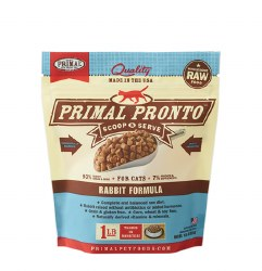 IN STORE PICK UP ONLY - Primal Pronto - Rabbit Formula - Raw Cat Food - 1 lbs