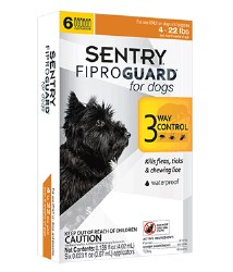 Sentry Fiproguard - 4 to 22 lb Dog - 3 months