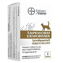 Bayer - Tapeworm Dewormer for Cats - 3 pack