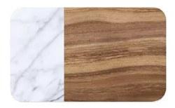 TarHong - Acacia Wood and Carrara Marble Placemat