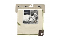 Tall Tails - Cape Towel - Cream and Sage - 20x20""