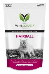 VetriScience - Hairball Soft Chews for Cats - 60 ct