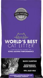 World's Best Multiple Cat - Lavender Scented Clumping Litter - 7lb