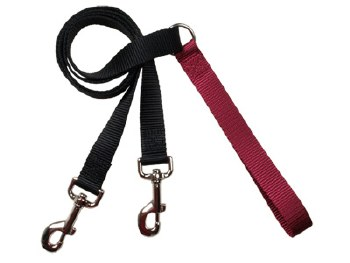 "2 Hounds - Training Leash - Burgundy 5/8"" Wide"
