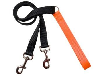 "2 Hounds - Training Leash - Neon Orange 1"" Wide"