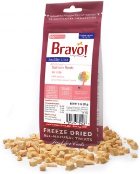 Bravo - Healthy Bites Salmon - Cat Treats - 1 oz