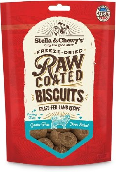Stella & Chewy's Raw Coated Biscuits - Grass Fed Lamb Recipe - Dog Treats - 9 oz