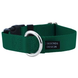 """2 Hounds - Dog Collar - Kelly Green 1"""" Wide - Large"""