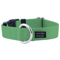 """2 Hounds - Dog Collar - Neon Green 1"""" Wide - Small"""