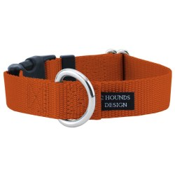 """2 Hounds - Dog Collar - Rust 1"""" Wide - Small"""