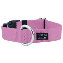"""2 Hounds - Dog Collar - Rose 5/8"""" Wide - Small"""