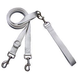 2 Hounds - Euro Leash - Silver