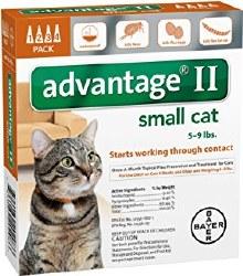 Advantage II - 5lb to 9 lb Cat - 4 months