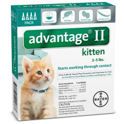 Advantage II - 2 lb to 5 lb Kitten - 4 months
