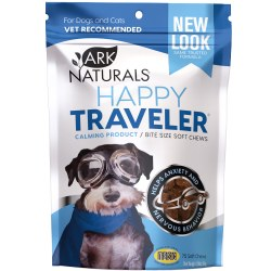 Ark Naturals Happy Traveler - Calming Soft Chews - Cat and Dog Supplement - 75 ct