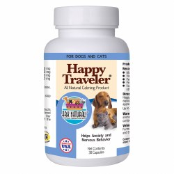 Ark Naturals Happy Traveler - Calming Capsules - Cat and Dog Supplement - 30 ct
