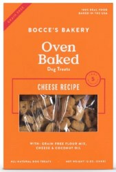 Bocce's Bakery - Crunchy Dog Treat - Grain Free Biscuts - Cheese - 12 oz
