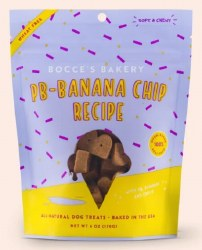 Bocce's Bakery - Scoop Shop Soft and Chewy - Peanut Butter & Banana Chip - Dog Treats - 6 oz