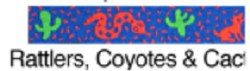 Beastie Bands - Cat Collar - Rattlers & Coyotes