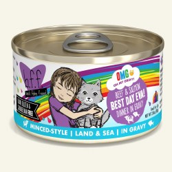 BFF OMG - Best Day Eva Beef & Salmon - Canned Cat Food - 2.8 oz