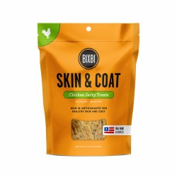 Bixbi Skin and Coat - Chicken Jerky - Dog Treats - 5 oz