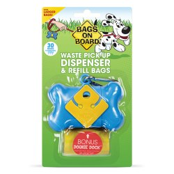 Bags on Board - Poop Bag Dispenser - Bone - Blue