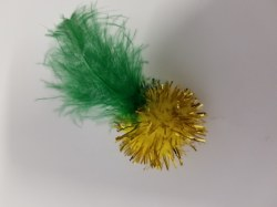 Boca Pet - Cat Toy - Tabby Tinsel Feather Puff