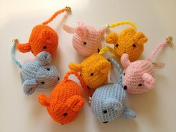 Boca Pet - Cat Toy - Wool Mice with Bell