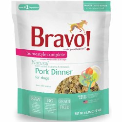 Bravo - Homestyle Complete Pork - Freeze Dried Dog Food - 6 lb