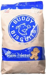 Buddy Biscuits - Dog Treats - Crunchy - Bacon & Cheese - 3.5 lb