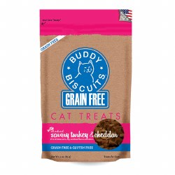 Buddy Biscuits - Cat Treats - Savory Turkey & Cheddar - 3 oz