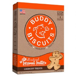 Buddy Biscuits - Dog Treats - Crunchy - Peanut Butter - 16 oz