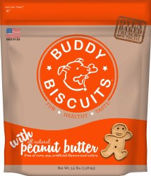 Buddy Biscuits - Dog Treats - Crunchy - Peanut Butter - 3.5 lb