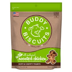 Buddy Biscuits - Dog Treats - Soft and Chewy - Roasted Chicken - 6 oz