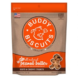 Buddy Biscuits - Dog Treats - Soft and Chewy - Peanut Butter - 6 oz